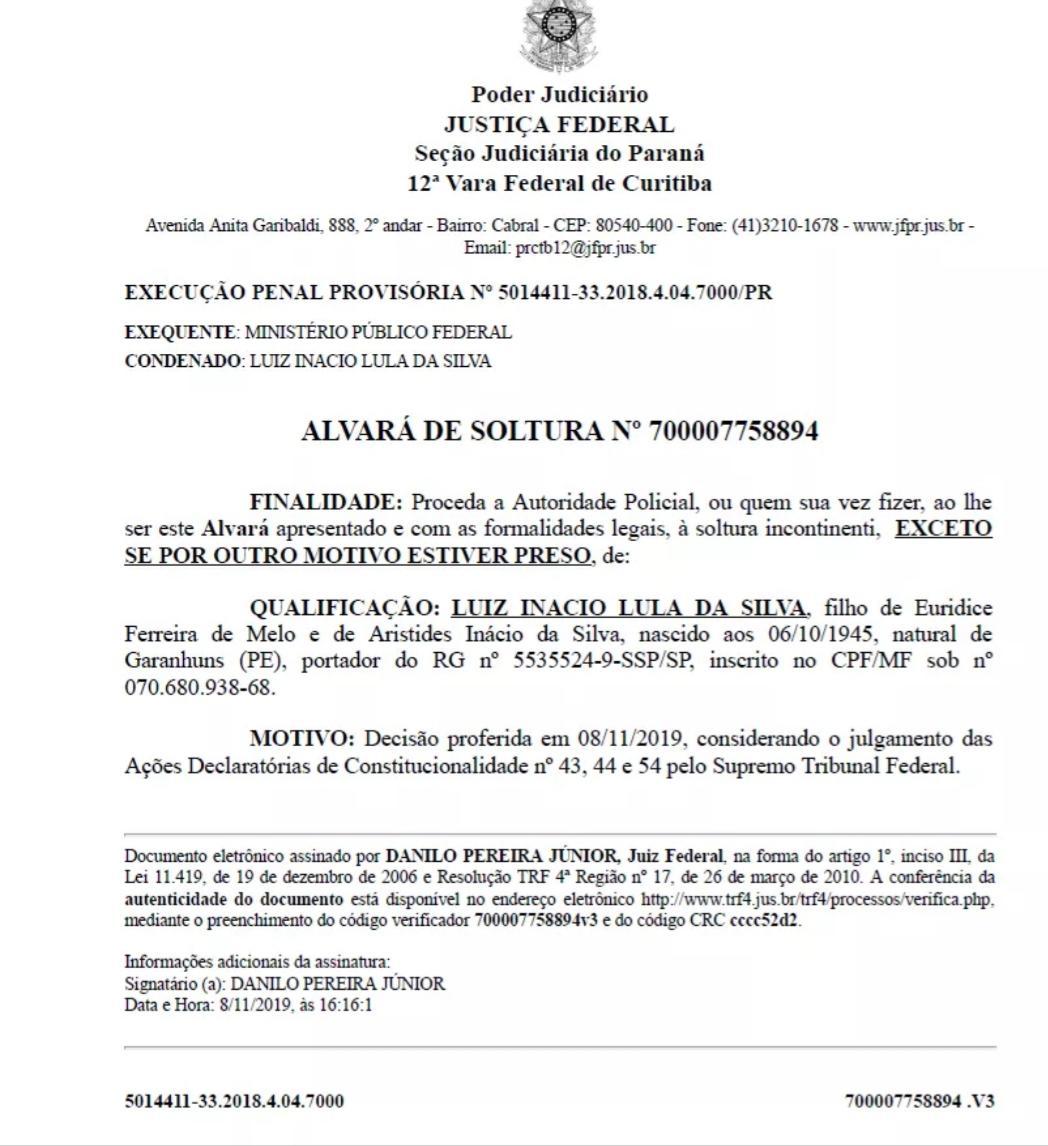 Soltura de Lula atende decisão do STF e corrige erro da Lava jato